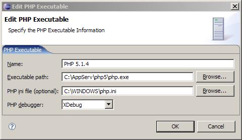 Настройка соединения с PHP в Eclipse PDT